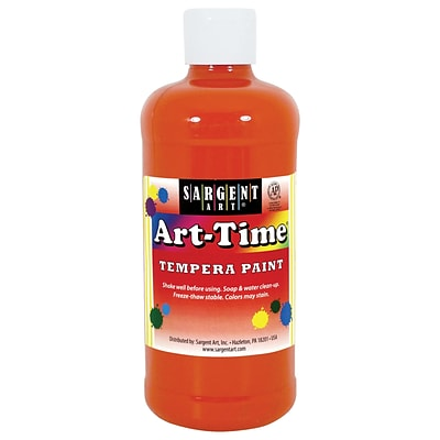 Sargent Art Art-Time Non-Toxic Tempera Paint, 16 oz., Orange (SAR226414)