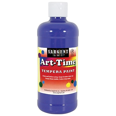 Sargent Art Art-Time Non-Toxic Tempera Paint, 16 oz., Blue (SAR226450)