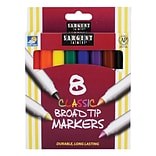 Sargent Art® Classic Markers, Broad Tip, Assorted Colors, 8/Pack (SAR221530)