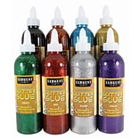 Sargent Art Washable Glitter Glue, Assorted Colors, 8 oz., Pack of 8 (SAR221908)