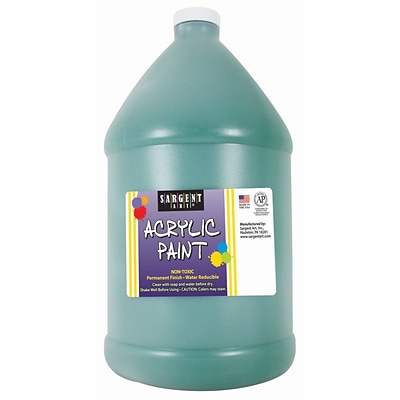 Sargent Art Acrylic Paint, Green, 64 oz. Bottle (Half Gallon) (SAR222766)