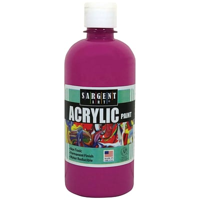 Sargent Art Acrylic Paint, Magenta, 16 oz. Squeeze Bottle (SAR242438)