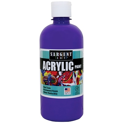 Sargent Art Acrylic Paint, Violet, 16 oz. Squeeze Bottle (SAR242442)
