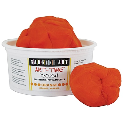 Sargent Art Art-Time Dough, Orange, 1 lb. (SAR853114)