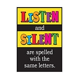 Listen and silent are spelled with… Poster