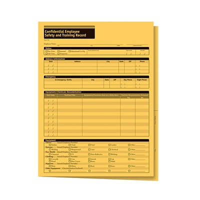 ComplyRight Confidential Employee Safety and Training Records Folder, Pack of 25 (A2210)