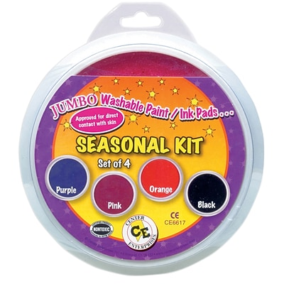 Center Enterprises® 6 Circular Washable Paint/Ink Pad, Seasonal Kit