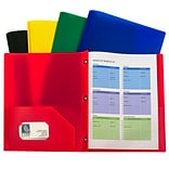 C-Line, Assorted Two Pocket Poly Portfolios With Prongs Pack of 10, 8.5 x 11 paper size (CLI32960)