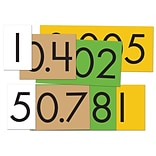 Essential Products® 4-Value Decimals To Whole Number Place Value Card Set, 4, 40 Cards (ELP626641)