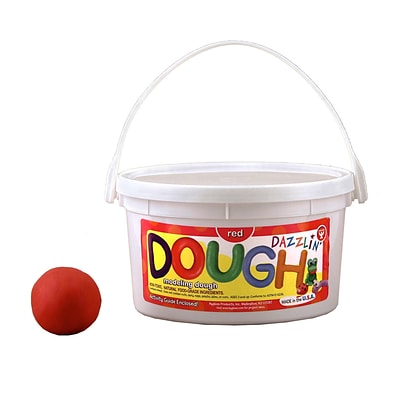 Hygloss Scented Dazzlin' Dough, Watermelon Red, 3 lb. tub (HYG49301)