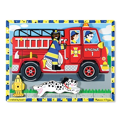 Melissa & Doug® Fire Truck Chunky Puzzle