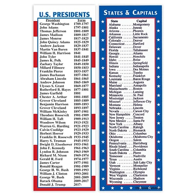 States & Capitals and Presidents Smart Bookmarks
