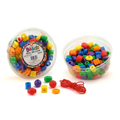 Hygloss® Big Beads W/Lanyard, 16 oz.