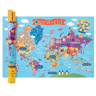 Round World Products, World Map for Kids, 24 x 36 (RWPKM01)