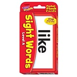 Sight Words – Level A Pocket Flash Cards for Grades PreK-3, 56 Pack (T-23027)