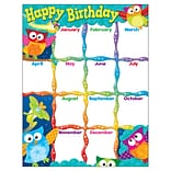 Happy Birthday (Owl-Stars!™) Learning Chart