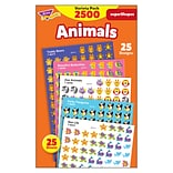 Trend Animals superShapes Stickers Variety Pack, 2500 CT (T-46904)