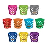 Teacher Created Resources 6 Polka Dots Buckets, Assorted Colors (TCR5631)