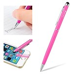 Insten 2in1 Capacitive Touch Screen Stylus with Ball Point Pen for Smartphone Tablet, Pink