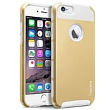 Insten White TPU/Gold Hard Hybrid Cover Case For Apple iPhone 6 6S 4.7 4.7 Inches (2-Piece Shockpro