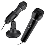 Insten® 3.5mm Microphone with Stand for PC Laptop Notebook Conference Calls (1989182)