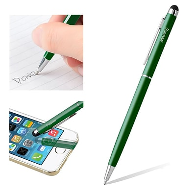 Insten® Universal 2-in-1 Capacitive Stylus with Ball Point Pen, Green