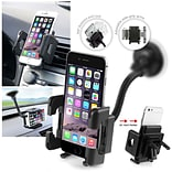 Insten Universal Black Cell Phone Holder Windshield Car Mount For Smartphone