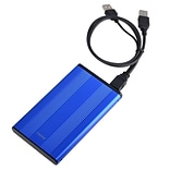 Insten 2.5 SATA External Aluminum Hard Drive HDD Enclosure, Blue