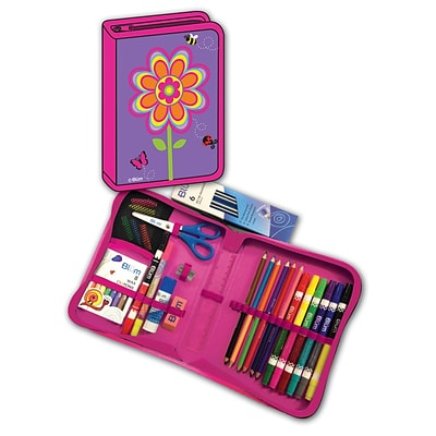 Blumberg Blümgear All-In-One Art & School Supplies with Carrying Case, 41/Set (BMB26011676)