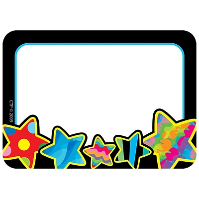 Creative Teaching Press™ Infant-6th Grades Name Tag, Poppin Patterns® Stars, 2.5 x 3.5, 36/Pack (CTP4508)