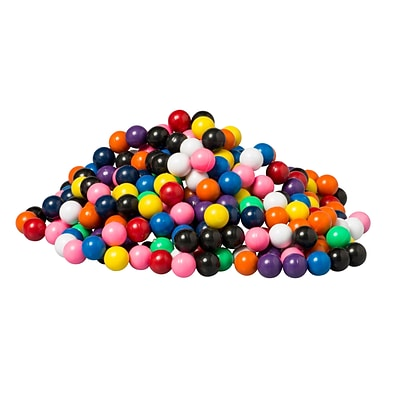 Dowling Magnets Solid Magnet Marbles, Assorted Colors, 400/Box (DO-736710)