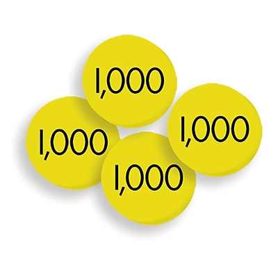 Essential Learning Products® 100 Thousands Place Value Disc, 100 Discs (ELP626653)