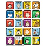 Eureka® Motivational Theme Sticker, Peanuts, 120/Pack
