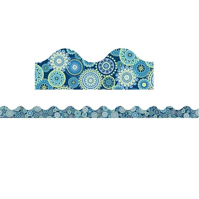 Eureka EU-845275, Blue Harmony - Mandala Scalloped Deco Trim?