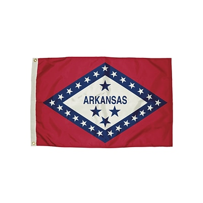 Flagzone Arkansas Flag with Heading and Grommets, 3 x 5, Each