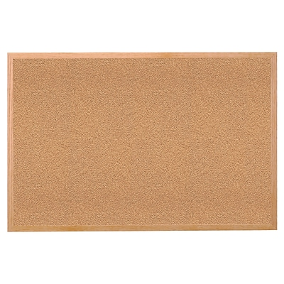 Ghent® Wood Frame Natural Corkboard, 24 X 36
