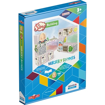 Geomag Magicube Story Building, Nursery Rhymes, 140 pieces (GMW233)