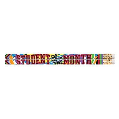 Musgrave Student of the Month Motivational/Fun Pencils, Pack of 144 (MUS2475G)