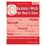 240 Vocabulary Words Kids Need to Know: Grade 1 Kama Einhorn Paperback