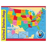 United States Map Learning Chart