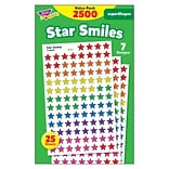 Trend Star Smiles superShapes Stickers Value Pack, 2500 CT (T-46917)