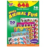 TREND® Animal Fun Sparkle Stickers® Variety Pack, 656 Count (T-63910)