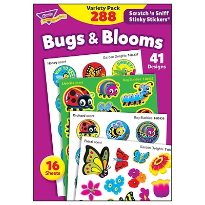 TREND® Bugs & Blooms Stinky Stickers® Variety Pack, 288 Count (T-83916)