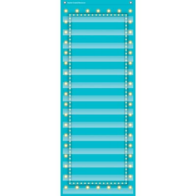 Teacher Created Resources 14 Pocket Pocket Chart, Light Blue Marquee (TCR20773)