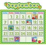 Teacher Created Resources Polka Dot School Calendar Bulletin Board Set, 65 pieces (TCR4188)