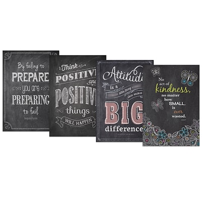 Creative Teaching Press Inspire U Chalk It Up! Pack 5 Charts, 4 Pack (CTP0567)
