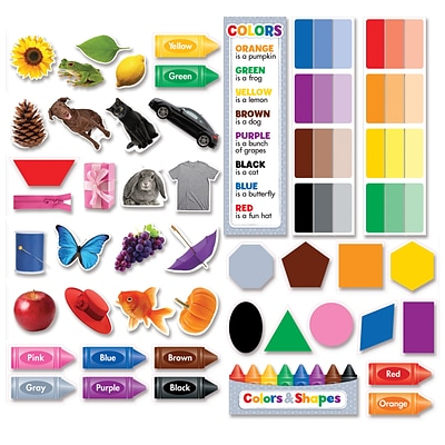 Creative Teaching Press Colors & Shapes Mini Bulletin Board, 50/Set (CTP6978)