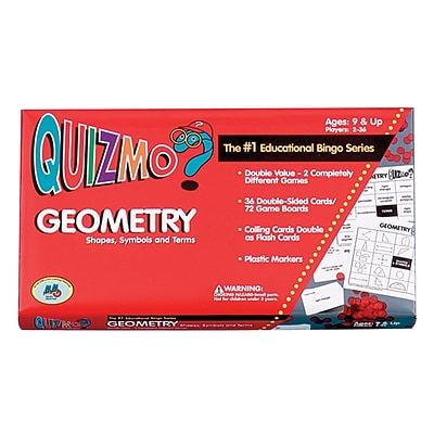 Learning Advantage Quizmo Geometry Bingo Game, Grades 4+ (CTU8241)
