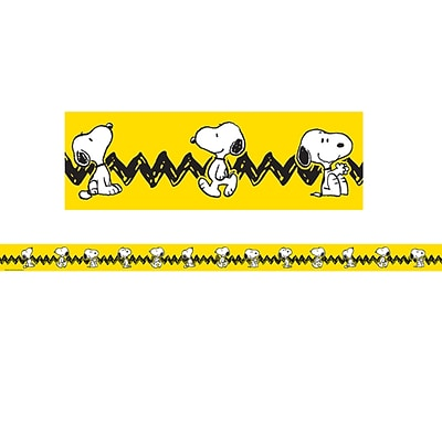 Eureka 2.25 x 37 Peanuts Yellow with Snoopy Deco Trim, 12 Pack (EU-845253)