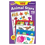 TREND® Animal Stars superShapes Stickers Large Variety Pack, 408 Count (T-46928)